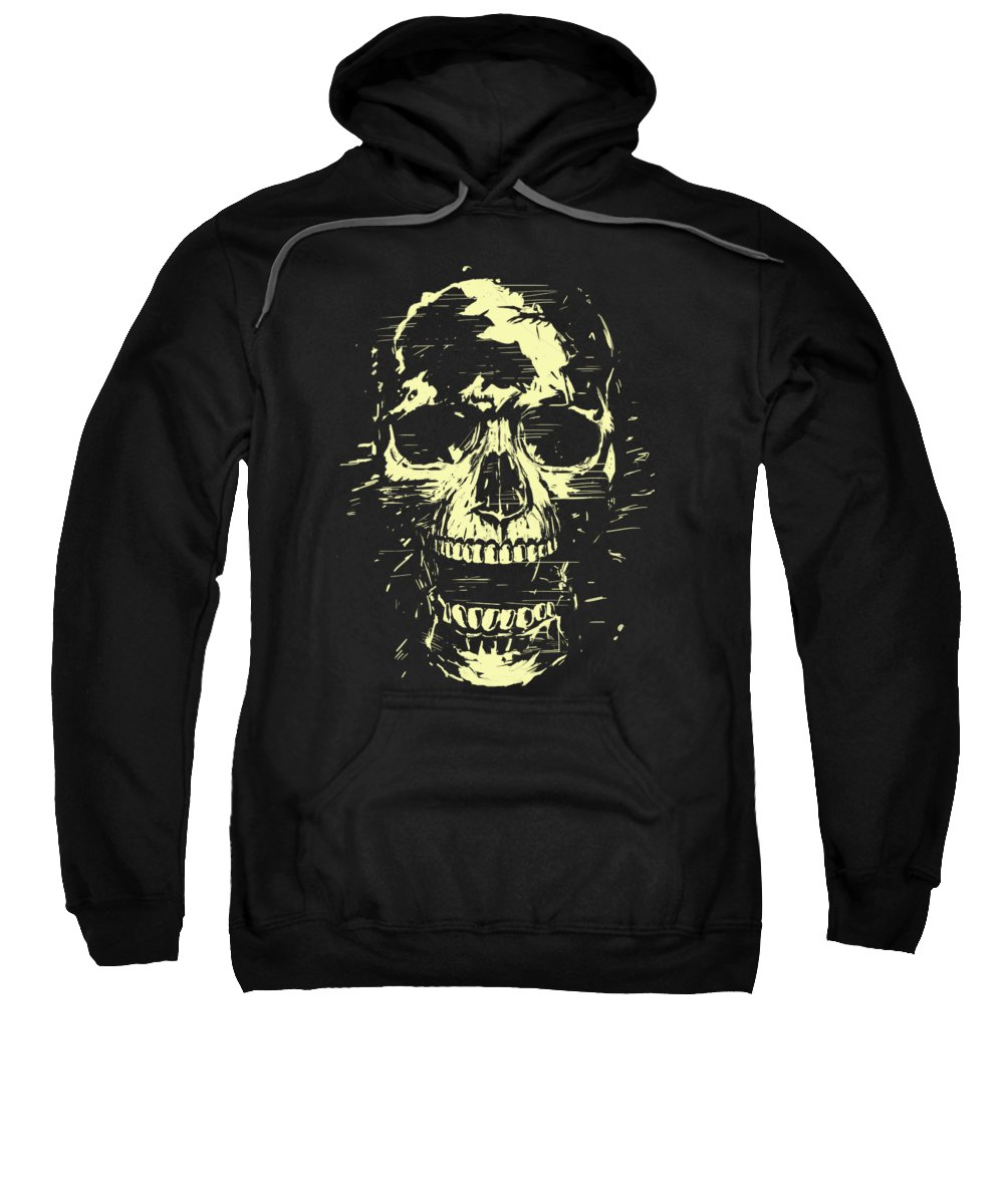 Skull Sweatshirt featuring the mixed media Scream by Balazs Solti