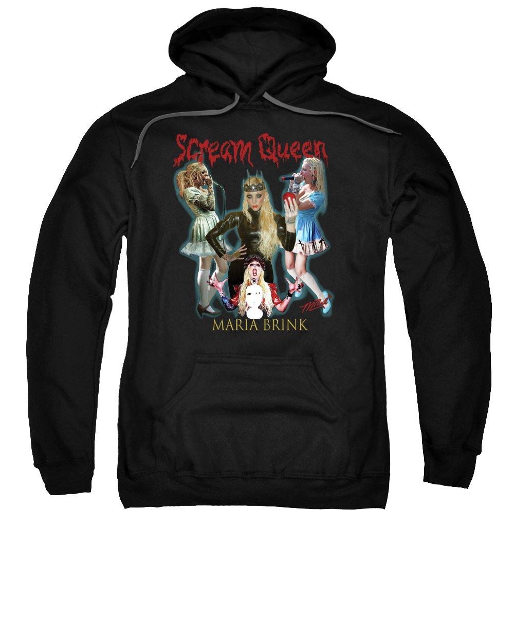 Maria Brink Sweatshirt featuring the digital art Scream Queen by Mark Nalewaiski