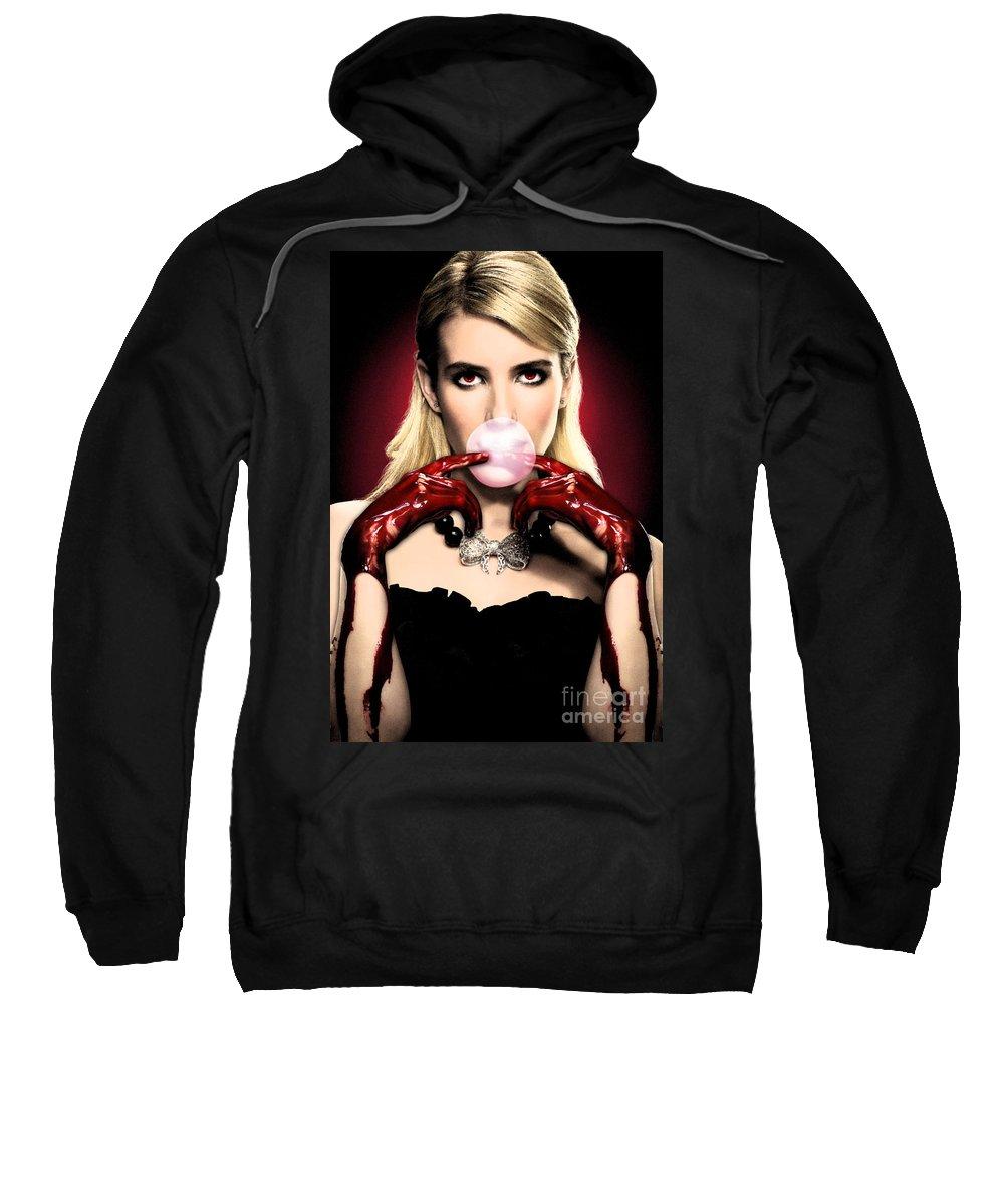 Scream Queen's Sweatshirt featuring the photograph Scream Queen's - Chanel Oberlin by GaGaMonster152