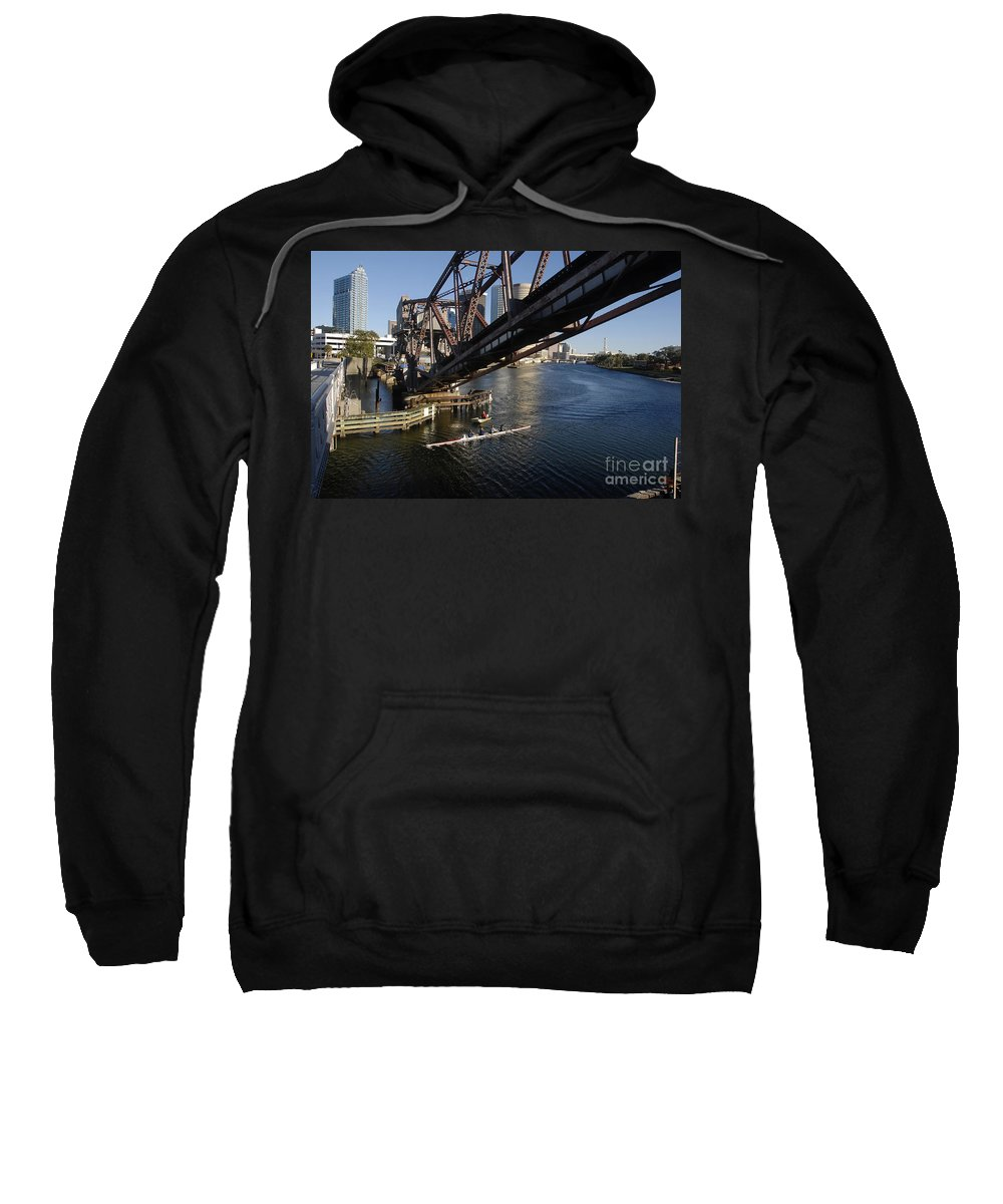 Sculling Sweatshirt featuring the photograph Sculling The Hillsborough by David Lee Thompson