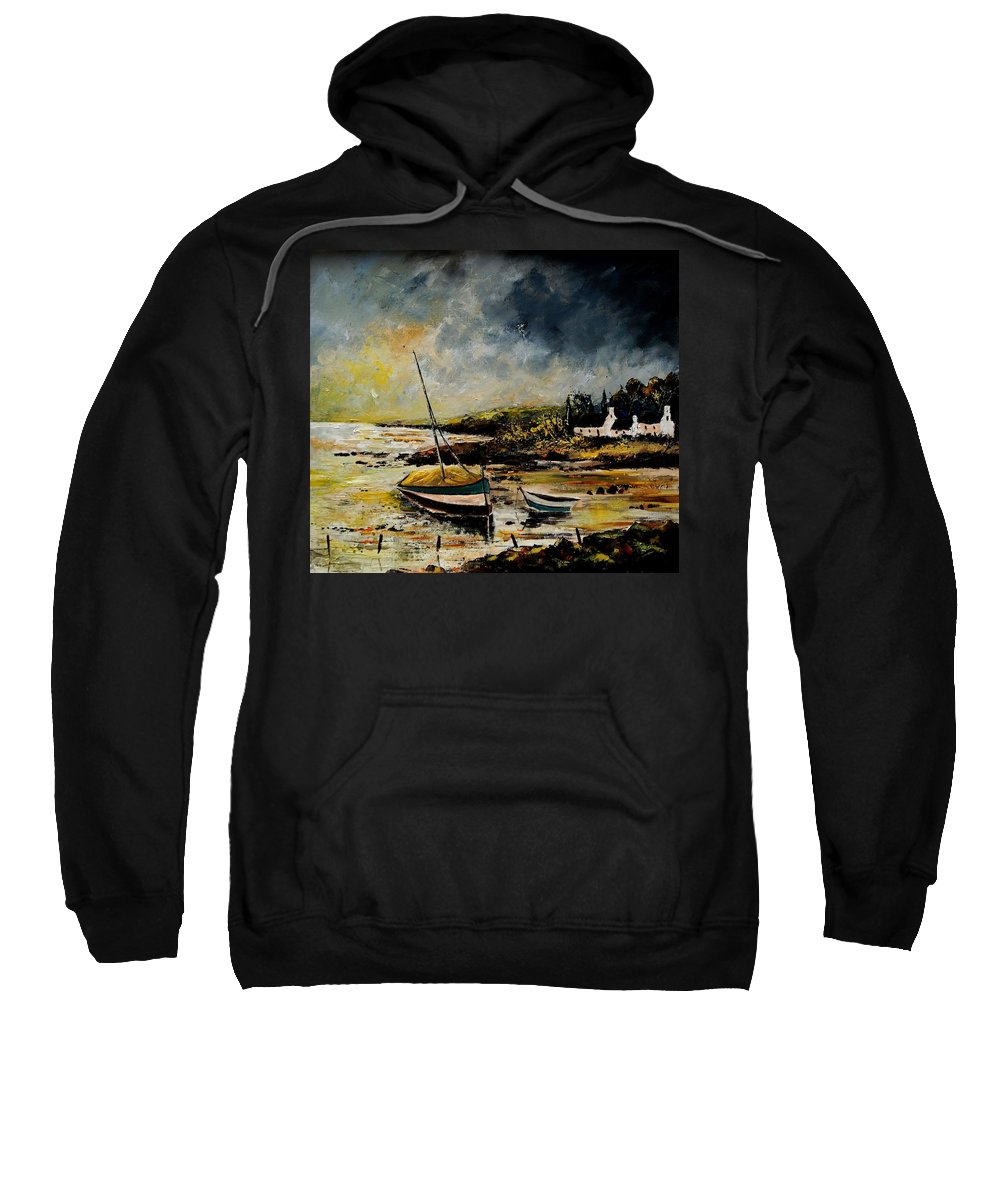 Sea Sweatshirt featuring the painting Seascape 452654 by Pol Ledent