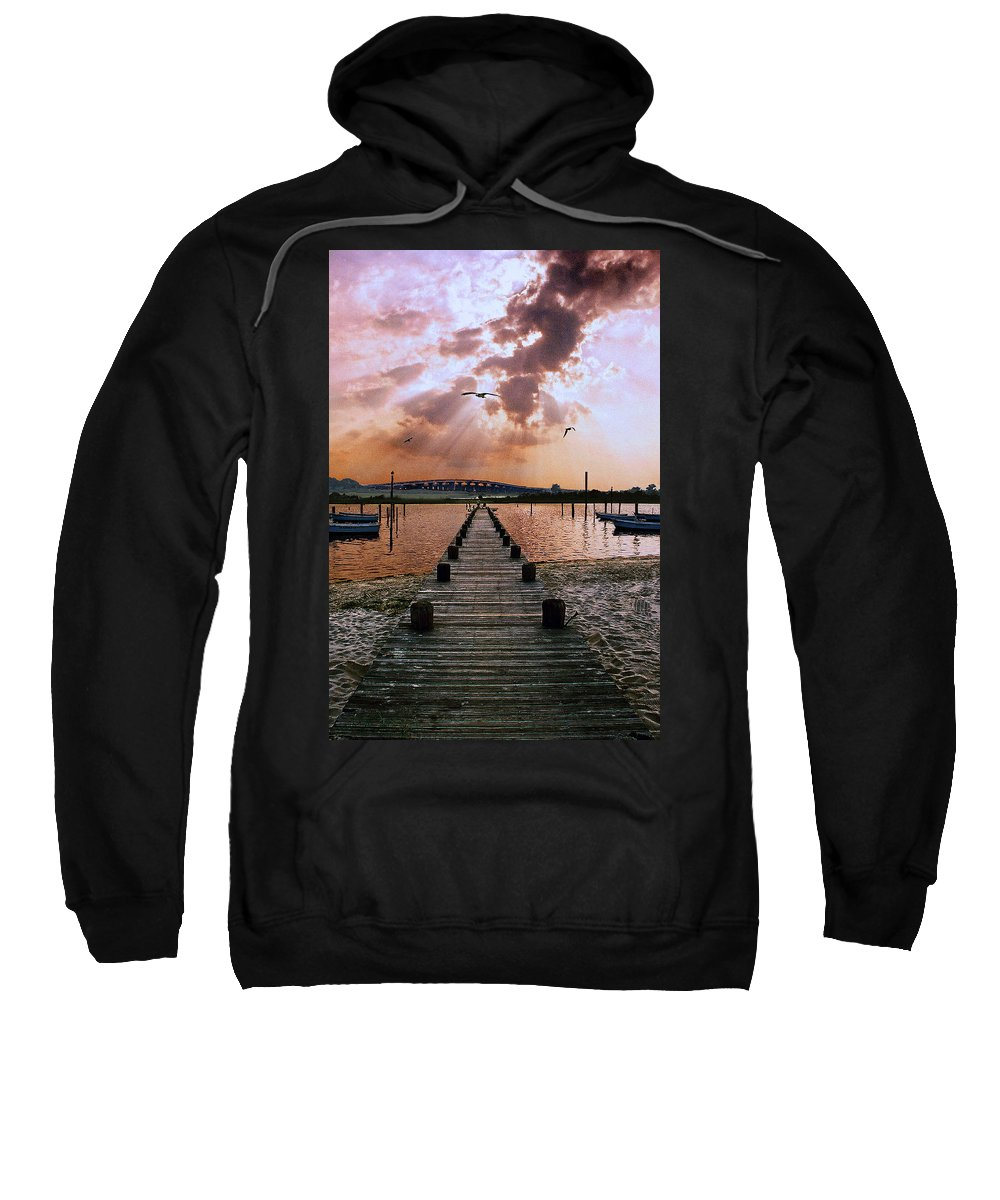 Seascape Sweatshirt featuring the photograph Seaside by Steve Karol