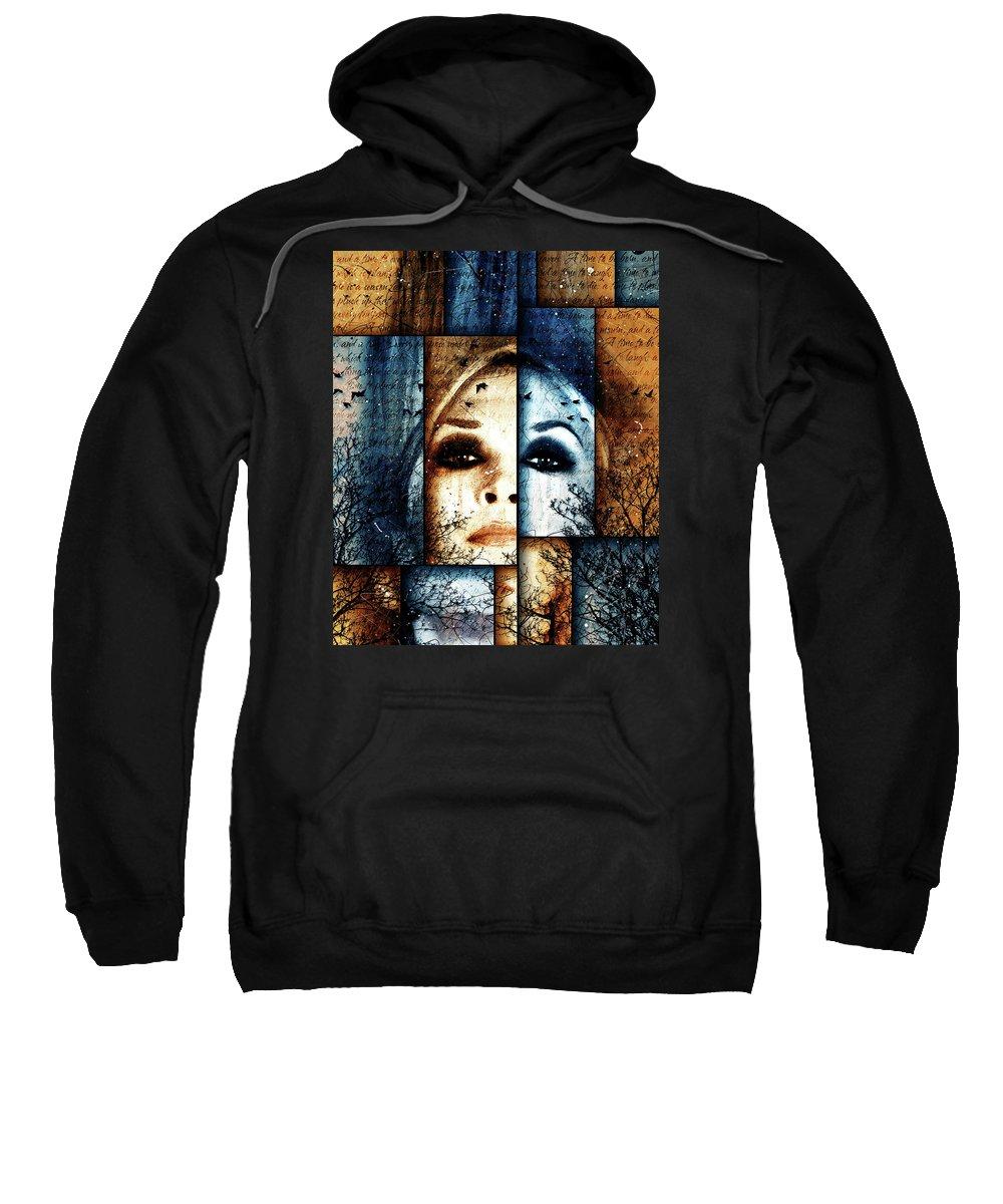 Surreal Art Sweatshirt featuring the digital art Seasons by Gary Bodnar