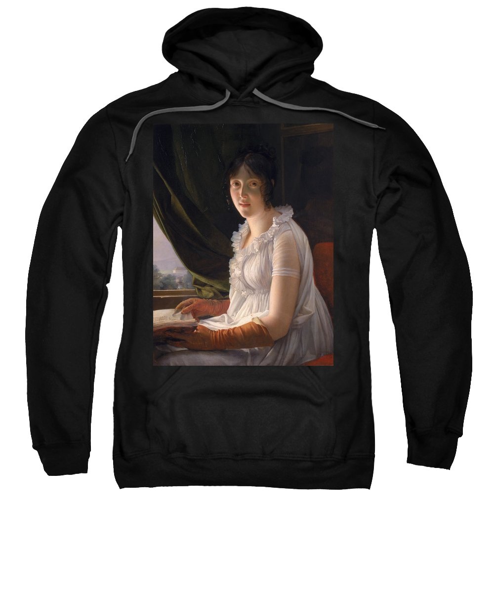 Gerard Sweatshirt featuring the painting Seated Portrait Of Marie Philippe Claude Walbonne by Francois Pascal Simon Gerard