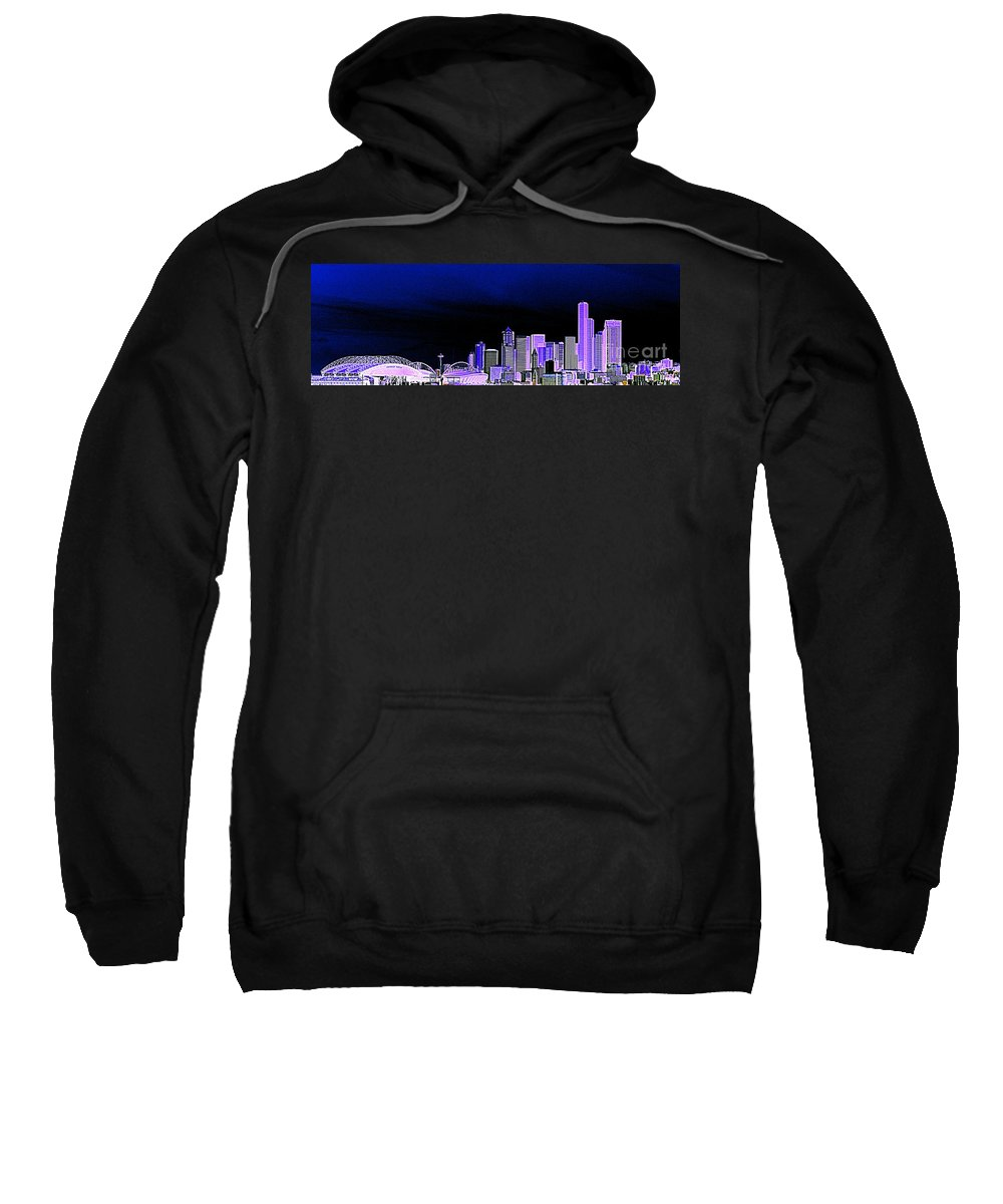 Seattle Sweatshirt featuring the photograph Seattle Blue 2 by Nick Gustafson