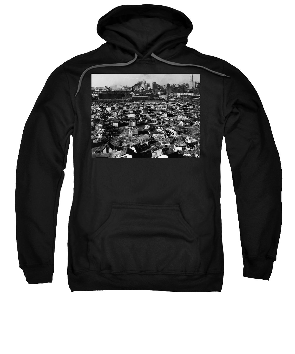 1933 Sweatshirt featuring the photograph Seattle: Hooverville, 1933 by Granger