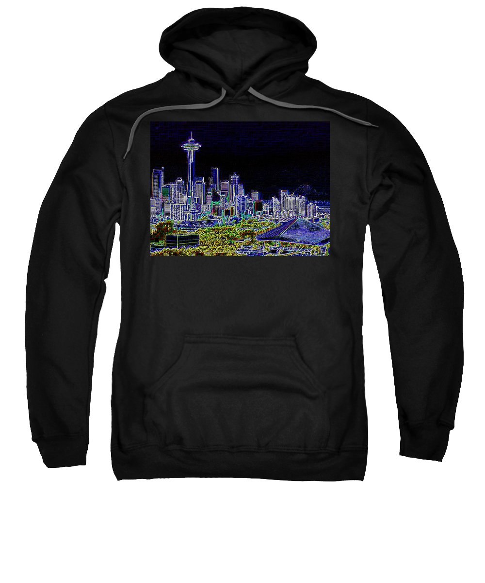 Seattle Sweatshirt featuring the photograph Seattle Quintessence by Tim Allen