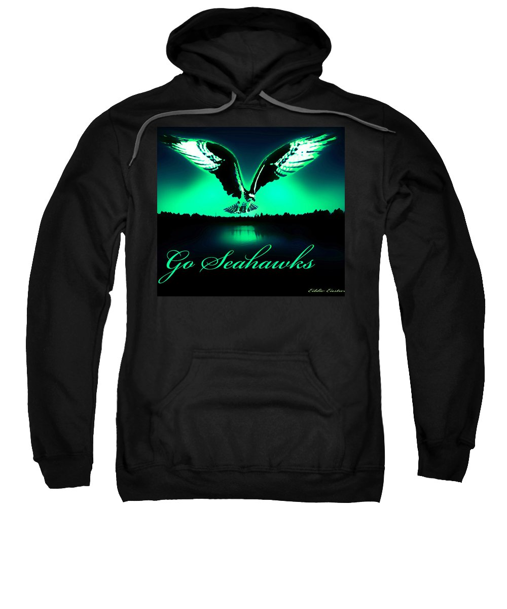 Sports Sweatshirt featuring the photograph Seattle Seahawks by Eddie Eastwood