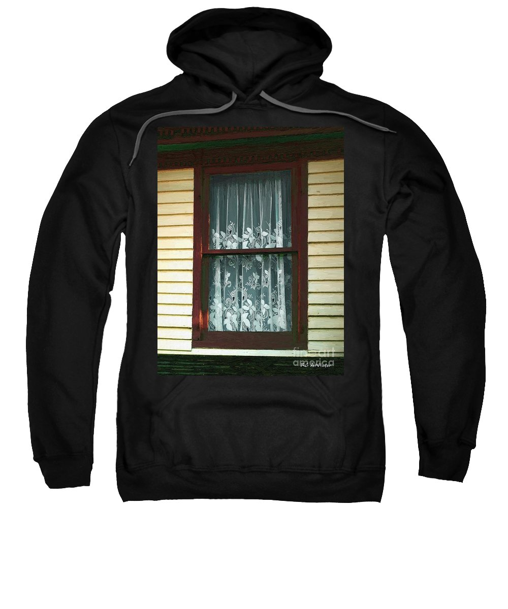 Autumn Sweatshirt featuring the painting Second Story Sunset by RC DeWinter