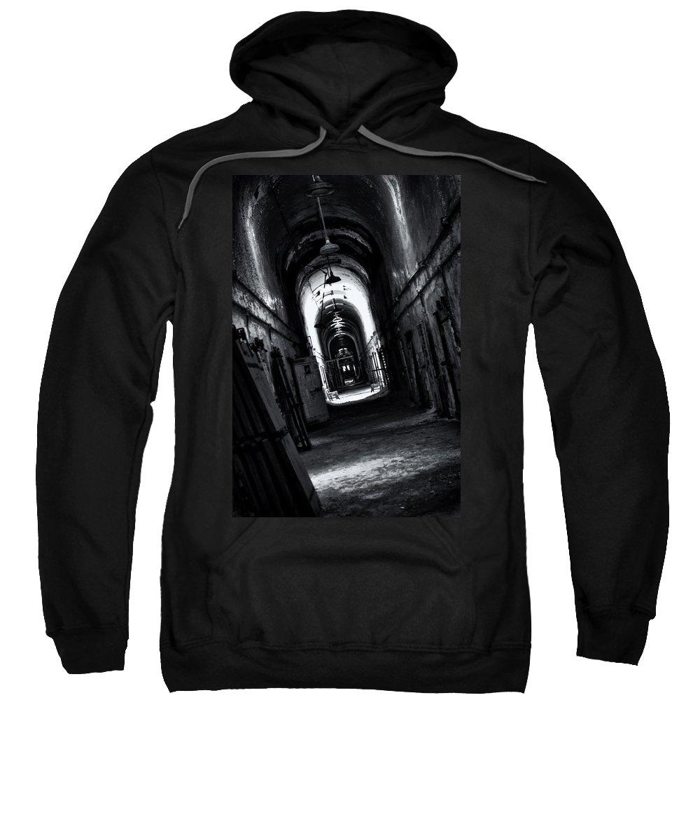 Eastern State Sweatshirt featuring the photograph Secrets Kept by Scott Wyatt
