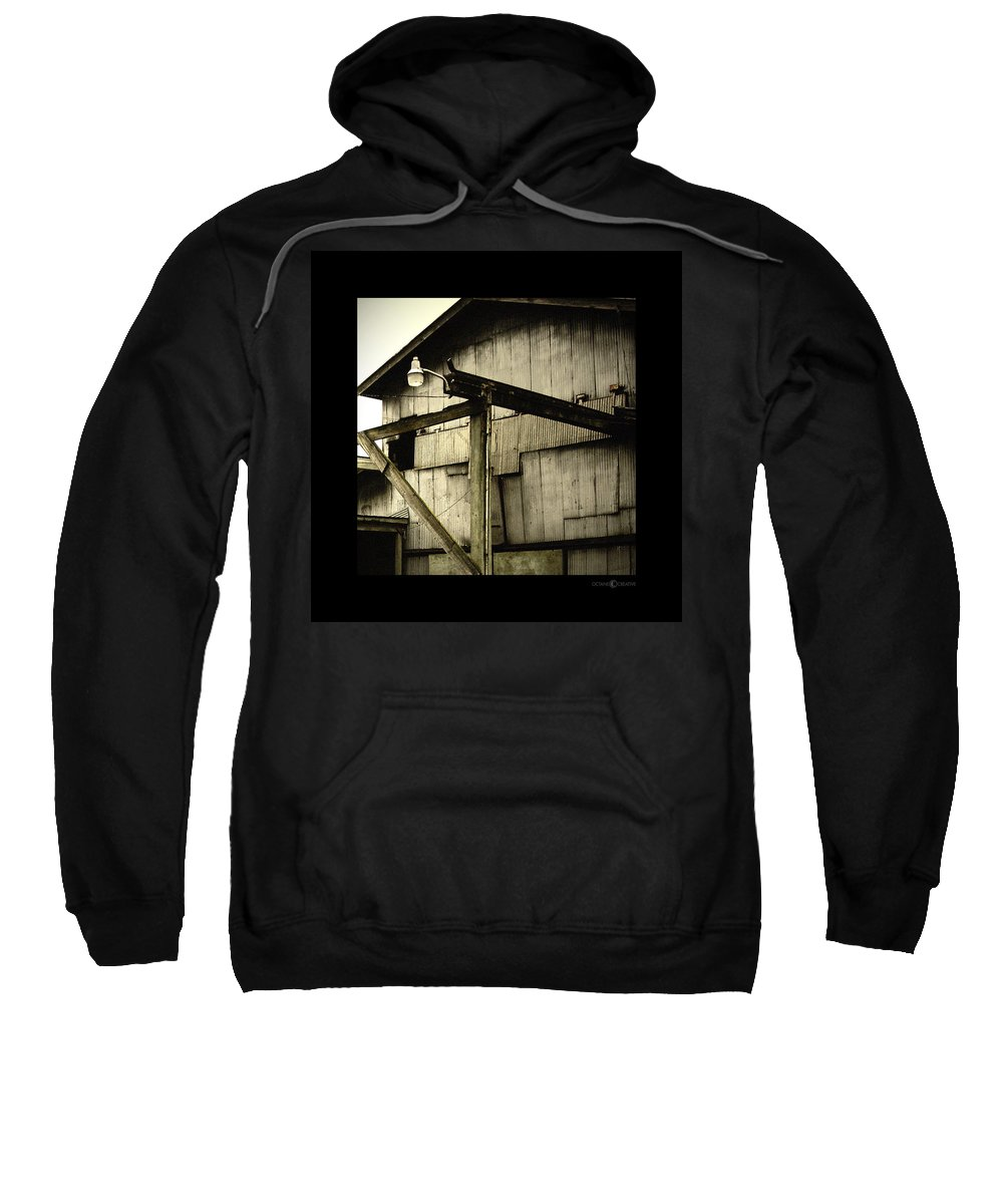 Corrugated Sweatshirt featuring the photograph Security Light by Tim Nyberg