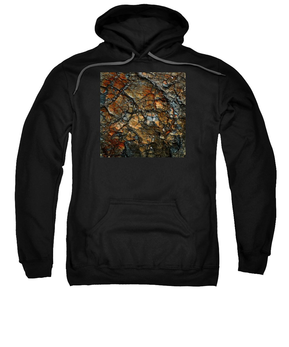 Abstract Sweatshirt featuring the digital art Sedimentary Abstract by Dave Martsolf