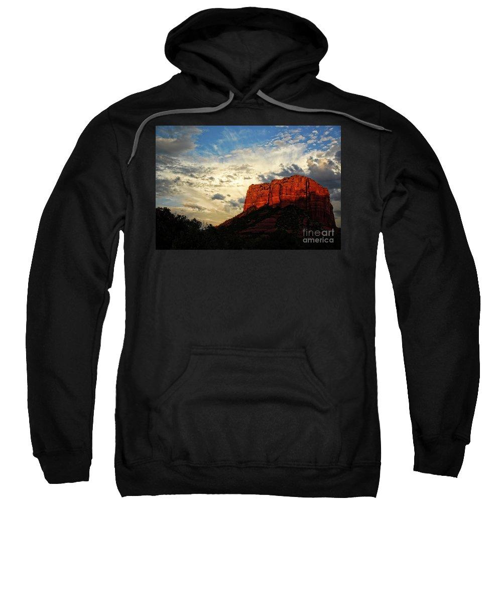 Arizona Sweatshirt featuring the photograph Sedona Sunset by Saija Lehtonen
