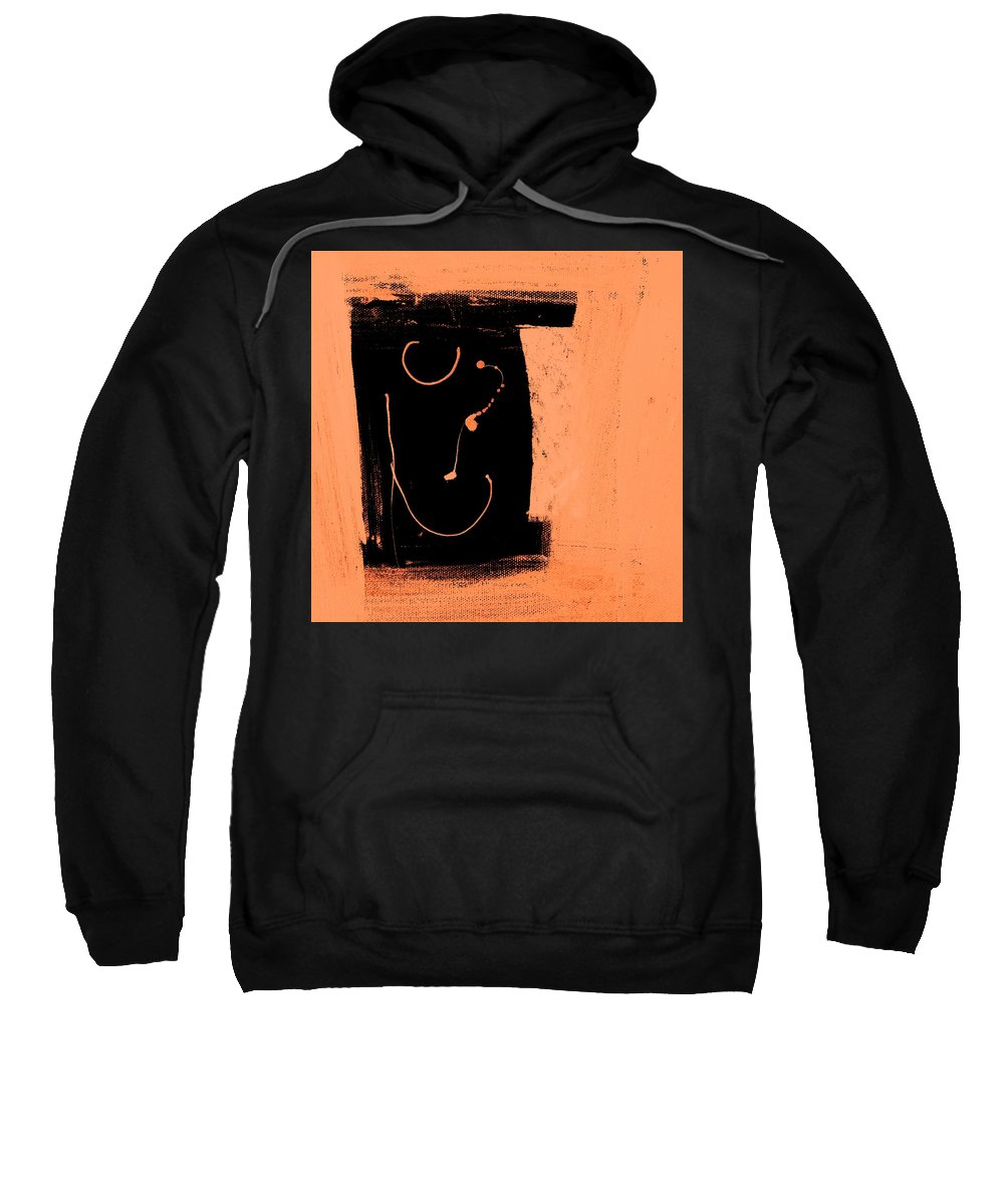 Abstract Figurative Sweatshirt featuring the mixed media Seeing Straight by Dave Love