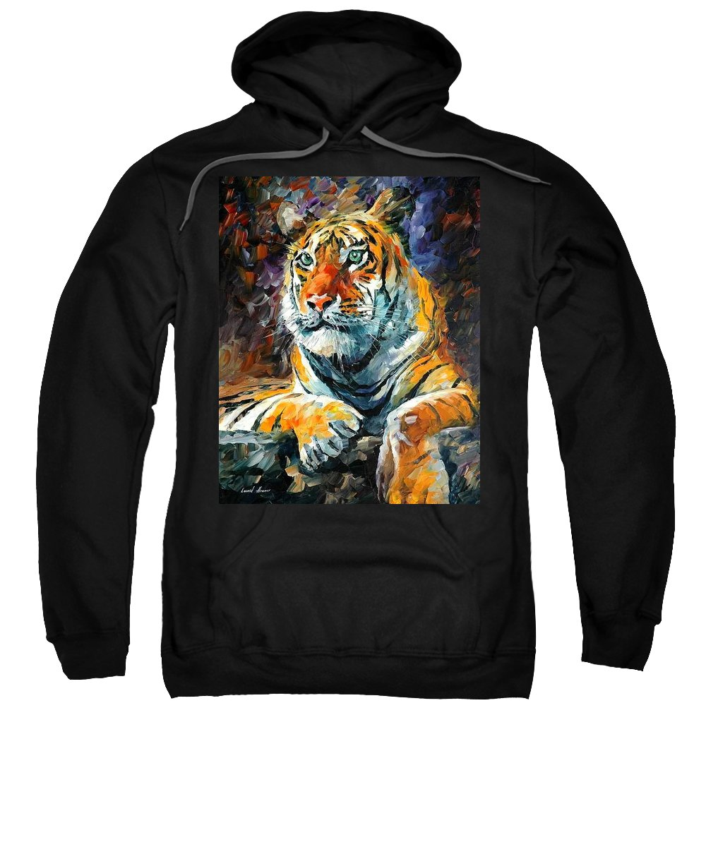 Painting Sweatshirt featuring the painting Seibirian Tiger by Leonid Afremov