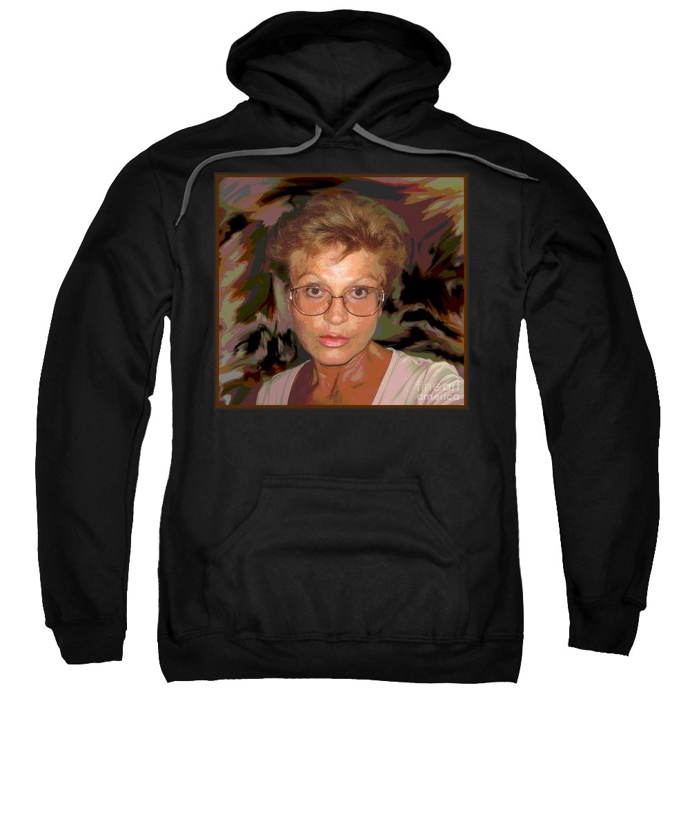 Self Portrait Sweatshirt featuring the photograph self portrait II by Dragica Micki Fortuna