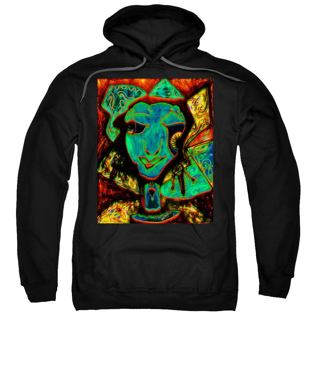 Fantasy Sweatshirt featuring the painting Self Portrait by Natalie Holland
