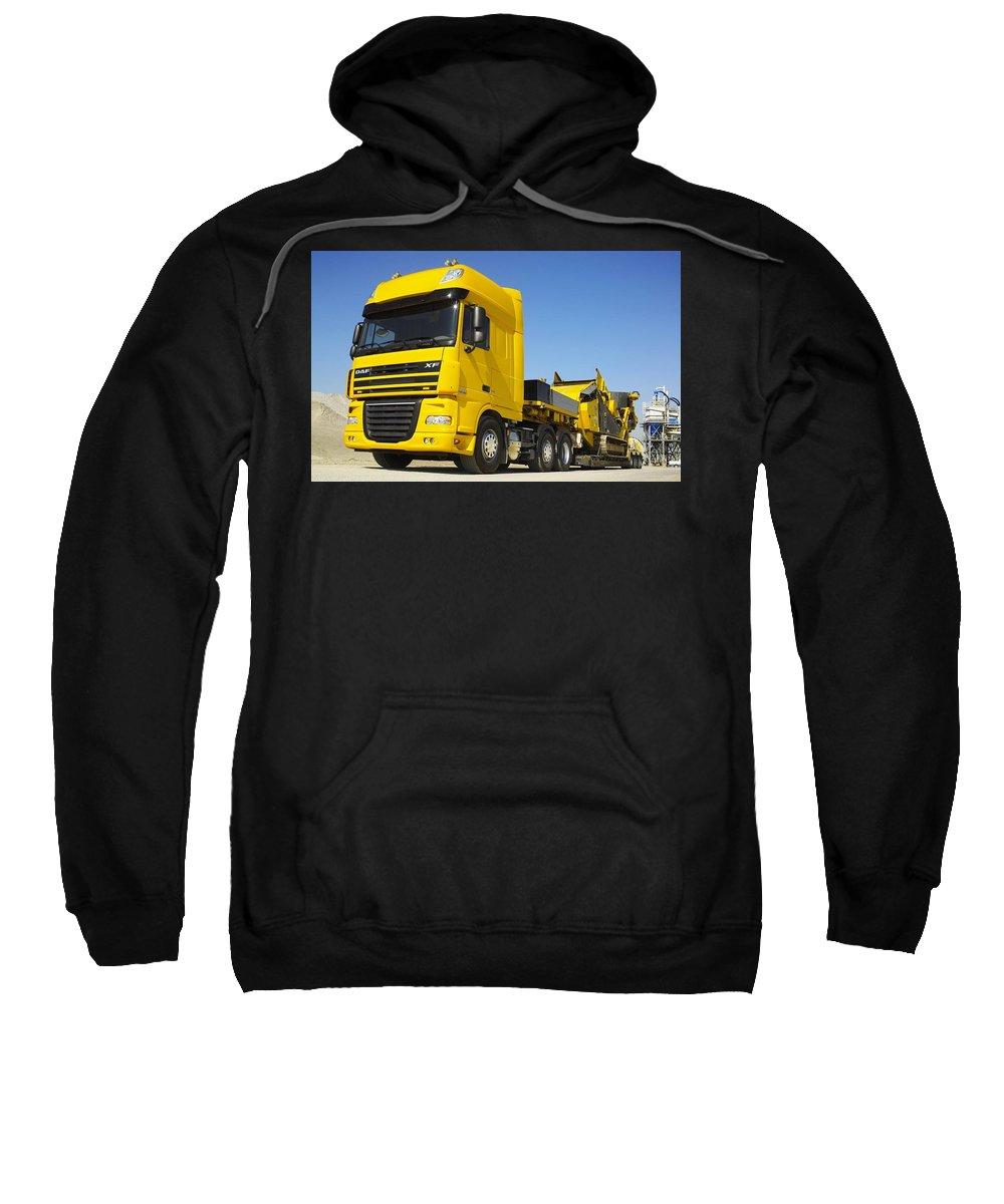 Semi Sweatshirt featuring the digital art Semi by Bert Mailer
