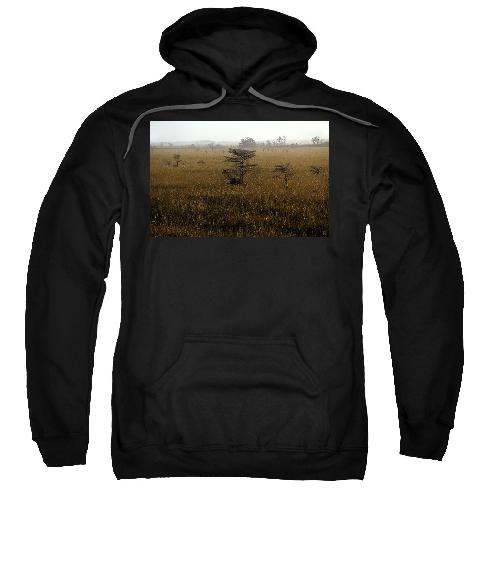 Everglades National Park Florida Sweatshirt featuring the painting Seminole Morning by David Lee Thompson