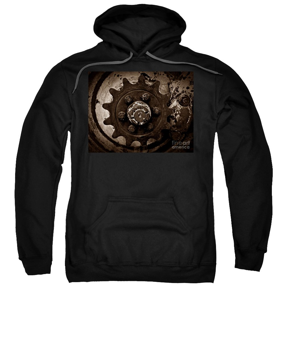 Sepia Gear Sweatshirt featuring the photograph Sepia Gear by Chalet Roome-Rigdon