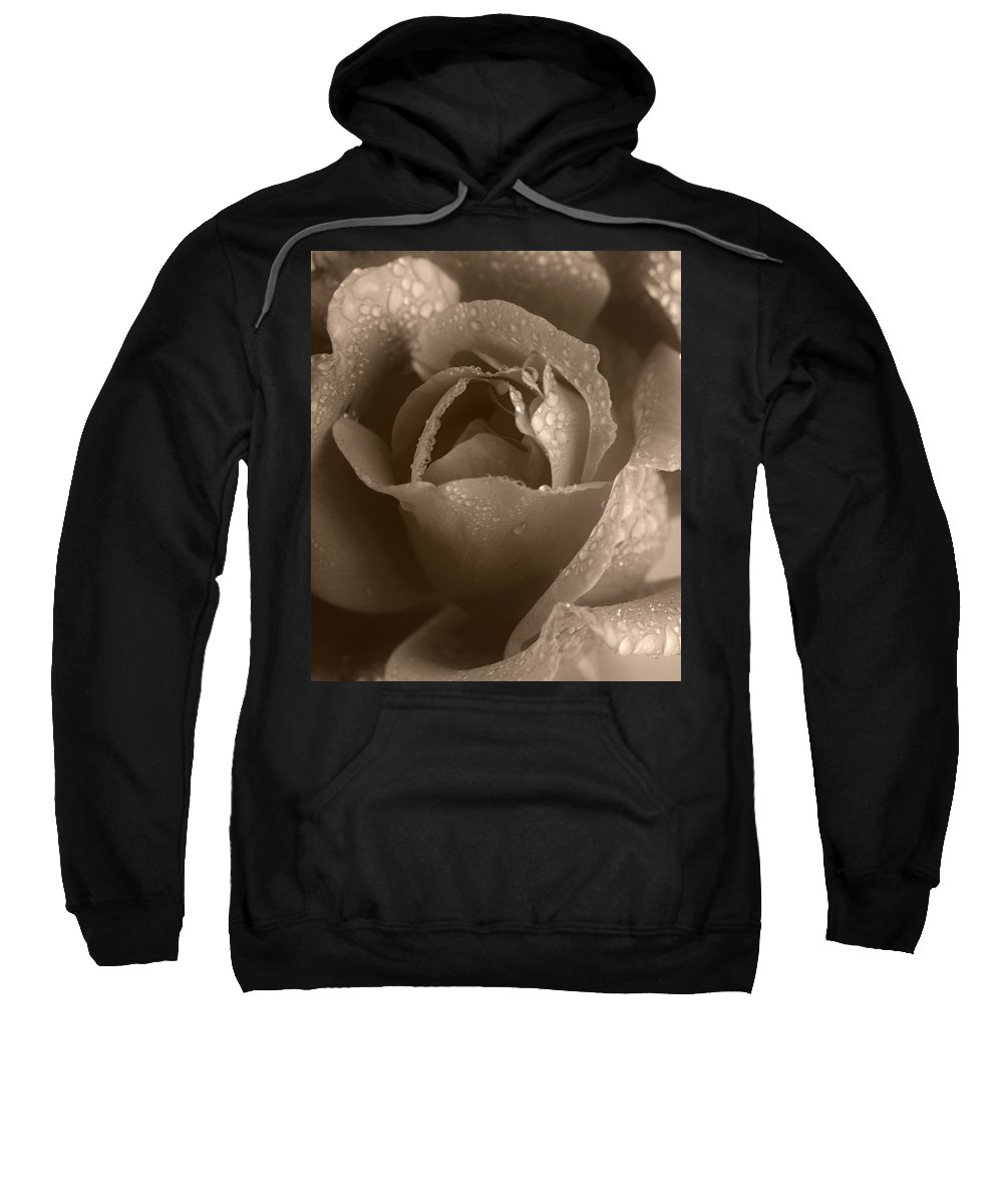 Rose Sweatshirt featuring the photograph Sepia Rose by Stephen Anderson