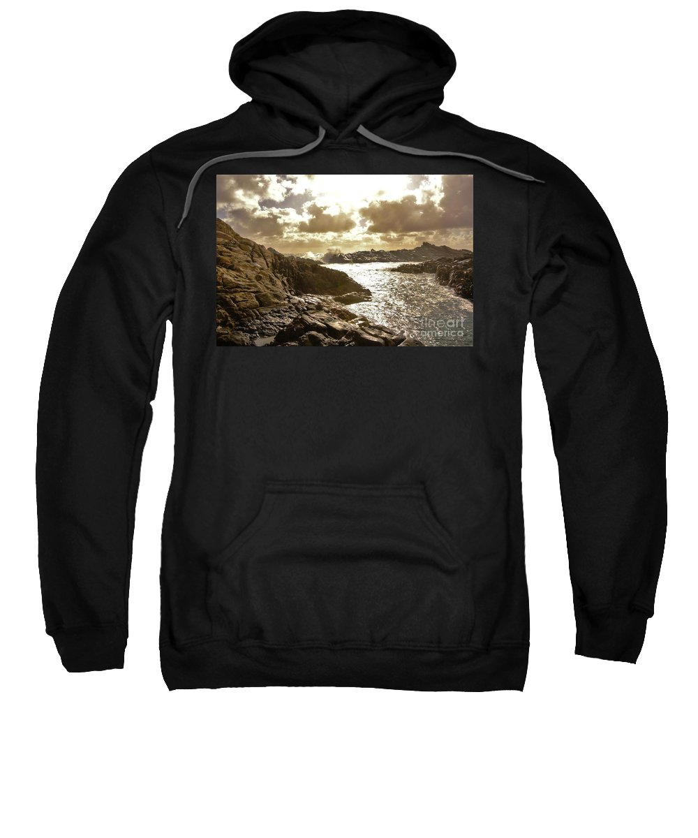 Sea Sweatshirt featuring the photograph September Clouds by Oscar Moreno