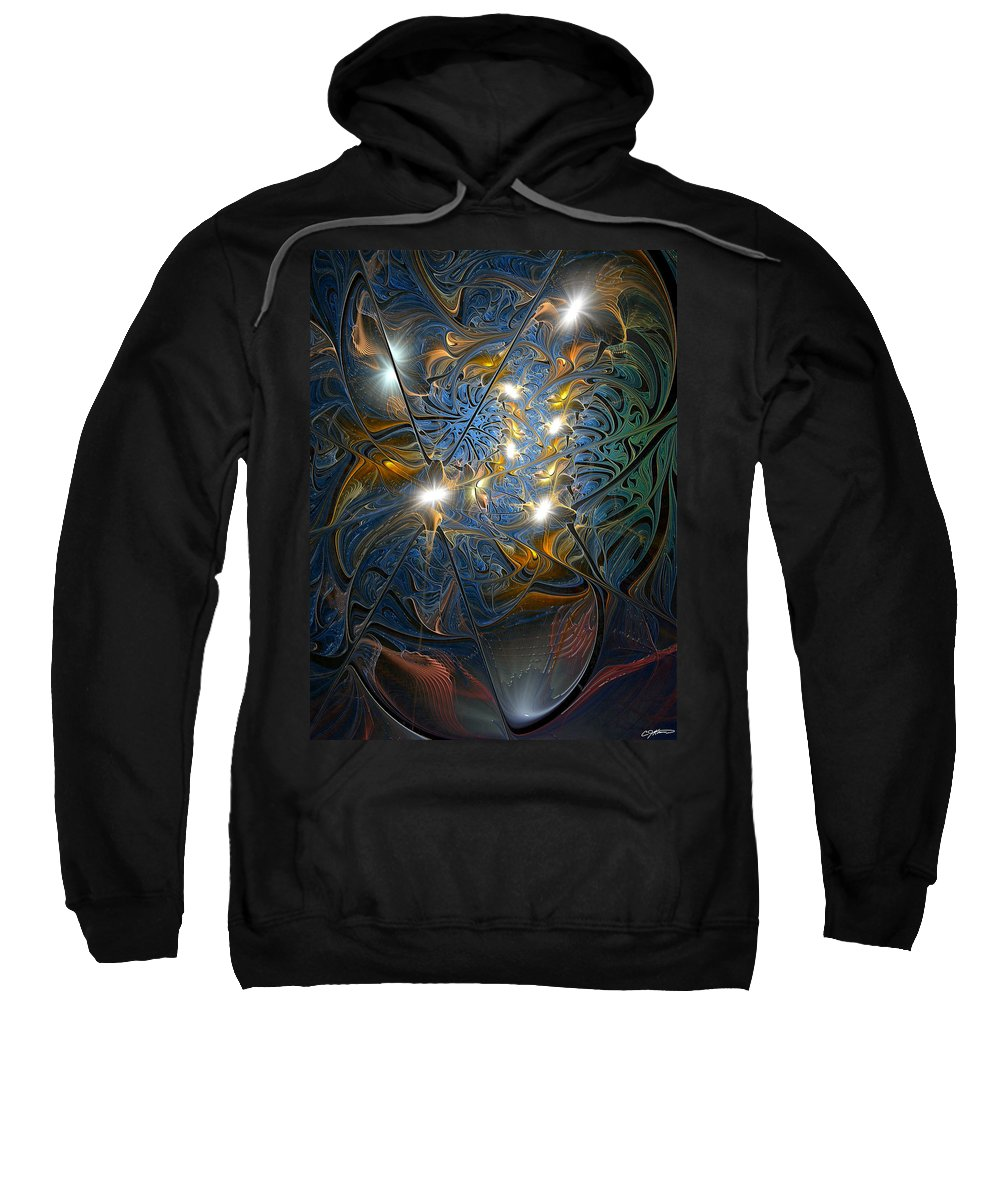 Abstract Sweatshirt featuring the digital art Serendipitous Trope by Casey Kotas