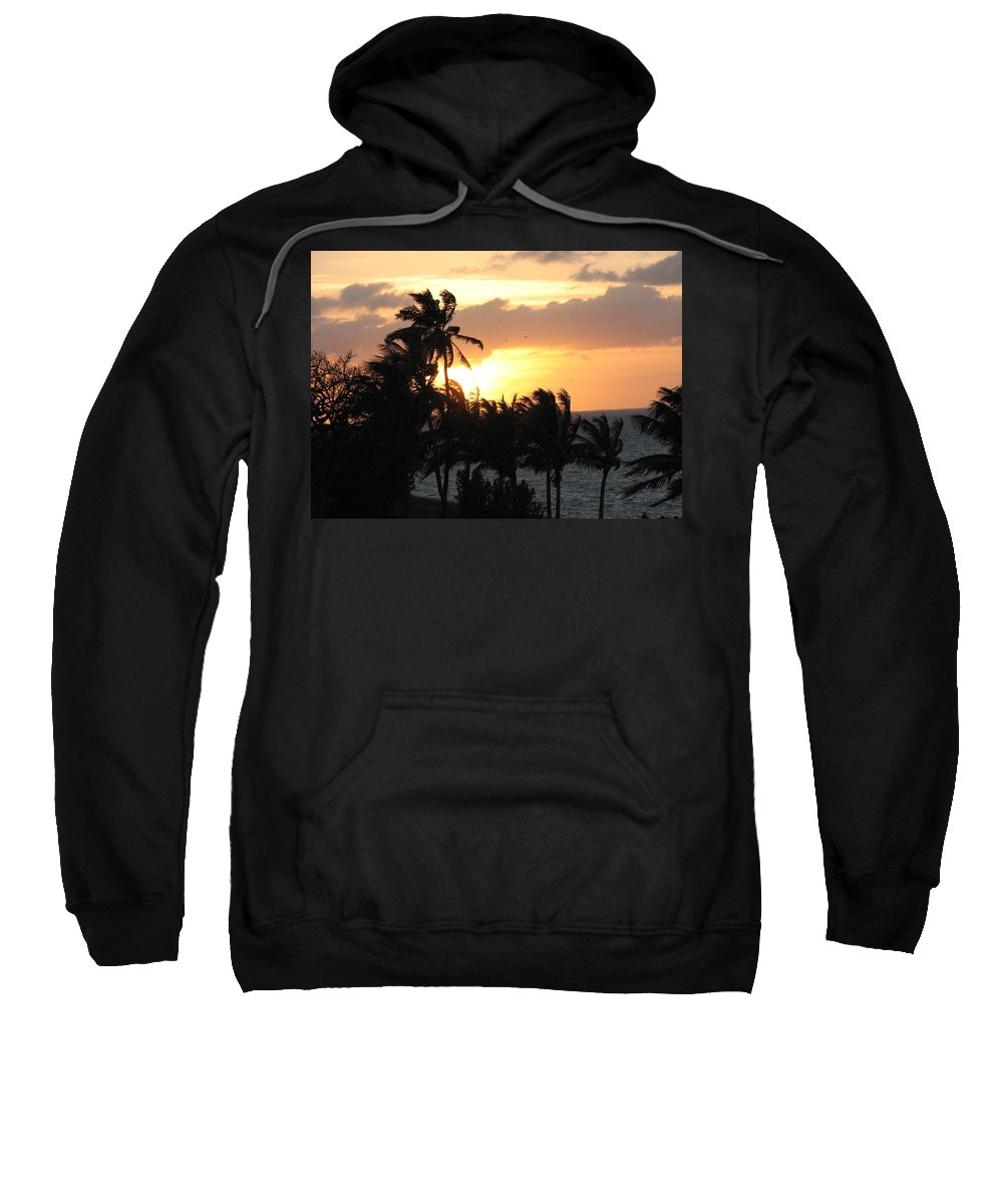 Sunset Sweatshirt featuring the photograph Seven Mile Sunset by Stacey May