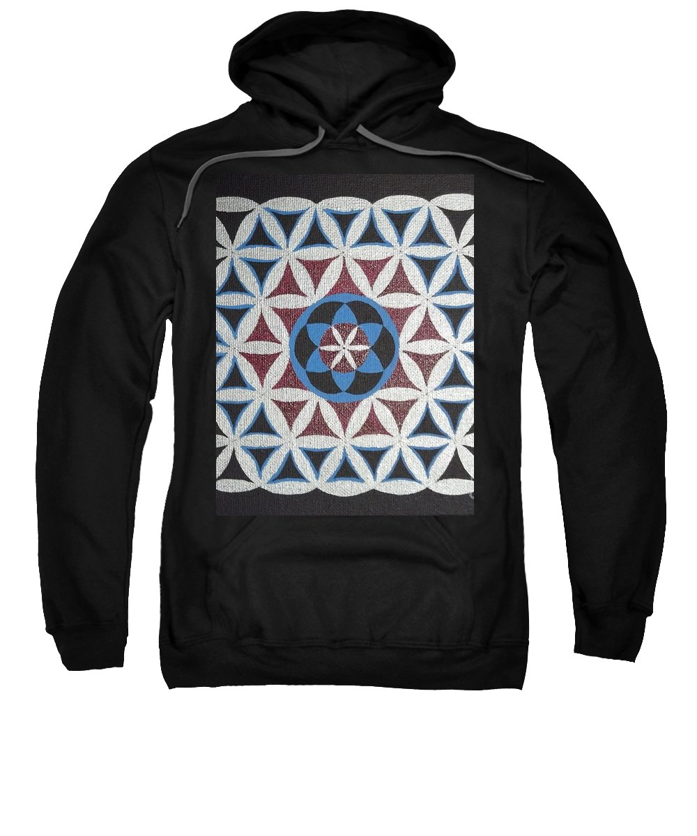 Geometry Sweatshirt featuring the painting SG1 by Lu- Chi