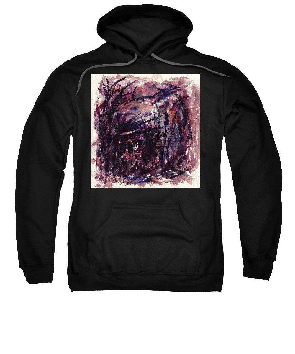 Shack Sweatshirt featuring the painting Shack Third Movement by Rachel Christine Nowicki