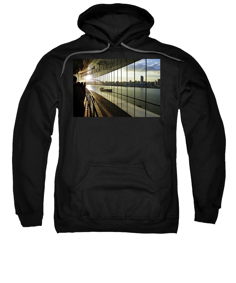 Photograph Sweatshirt featuring the photograph Shanghai City 13 by Xueling Zou