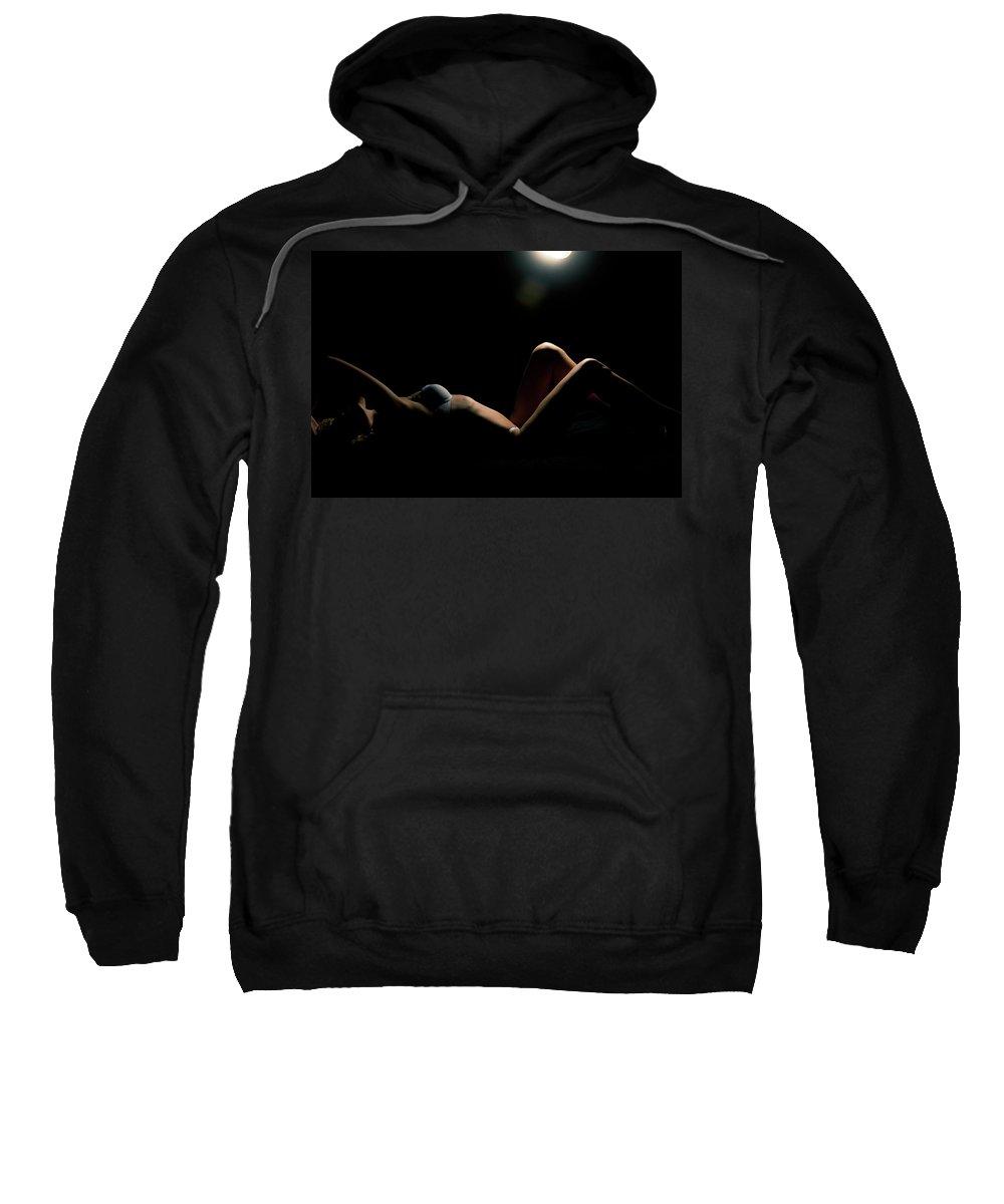 Woman Sweatshirt featuring the photograph Shape Of A Woman by Scott Sawyer