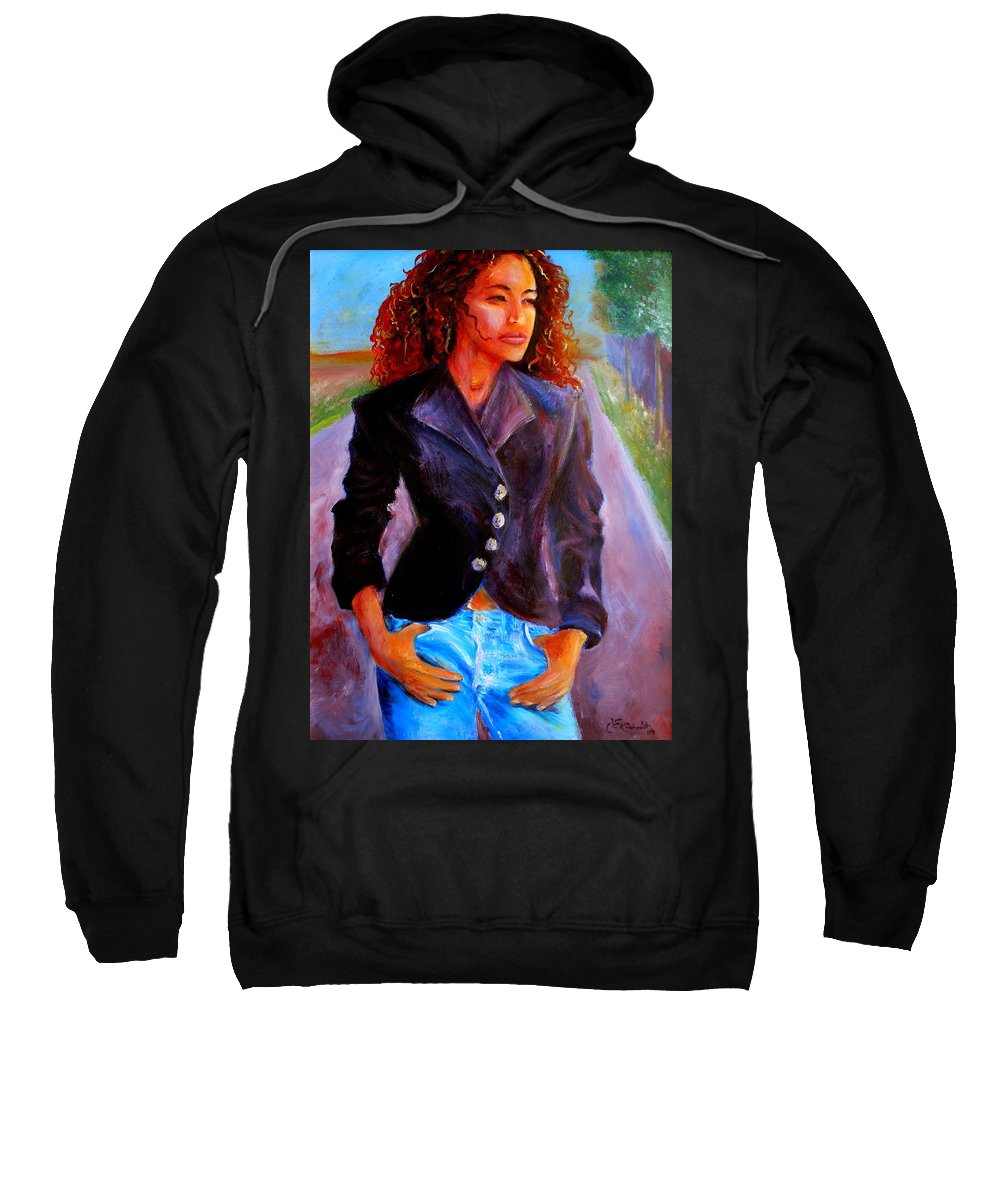 Acrylic Sweatshirt featuring the painting Sharice by Jason Reinhardt