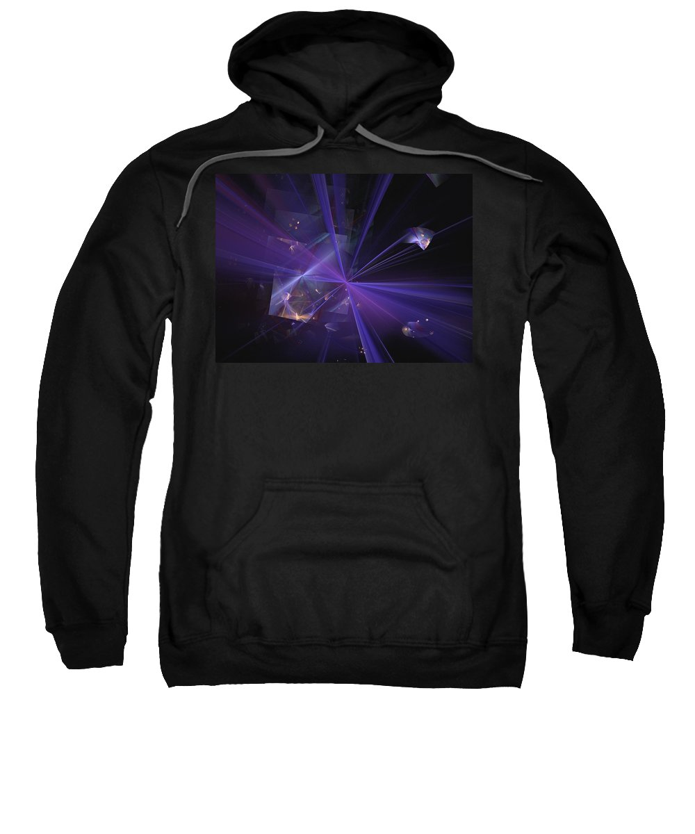 Abstract Digital Painting Sweatshirt featuring the digital art Shattered by David Lane