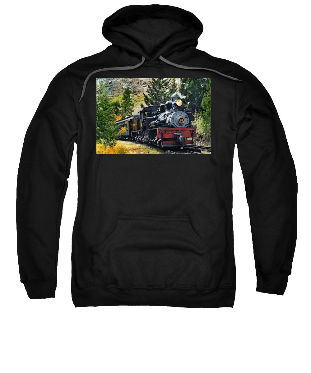 Steam Train Photographs Sweatshirt featuring the photograph Shay On The Georgetown Loop by Ken Smith