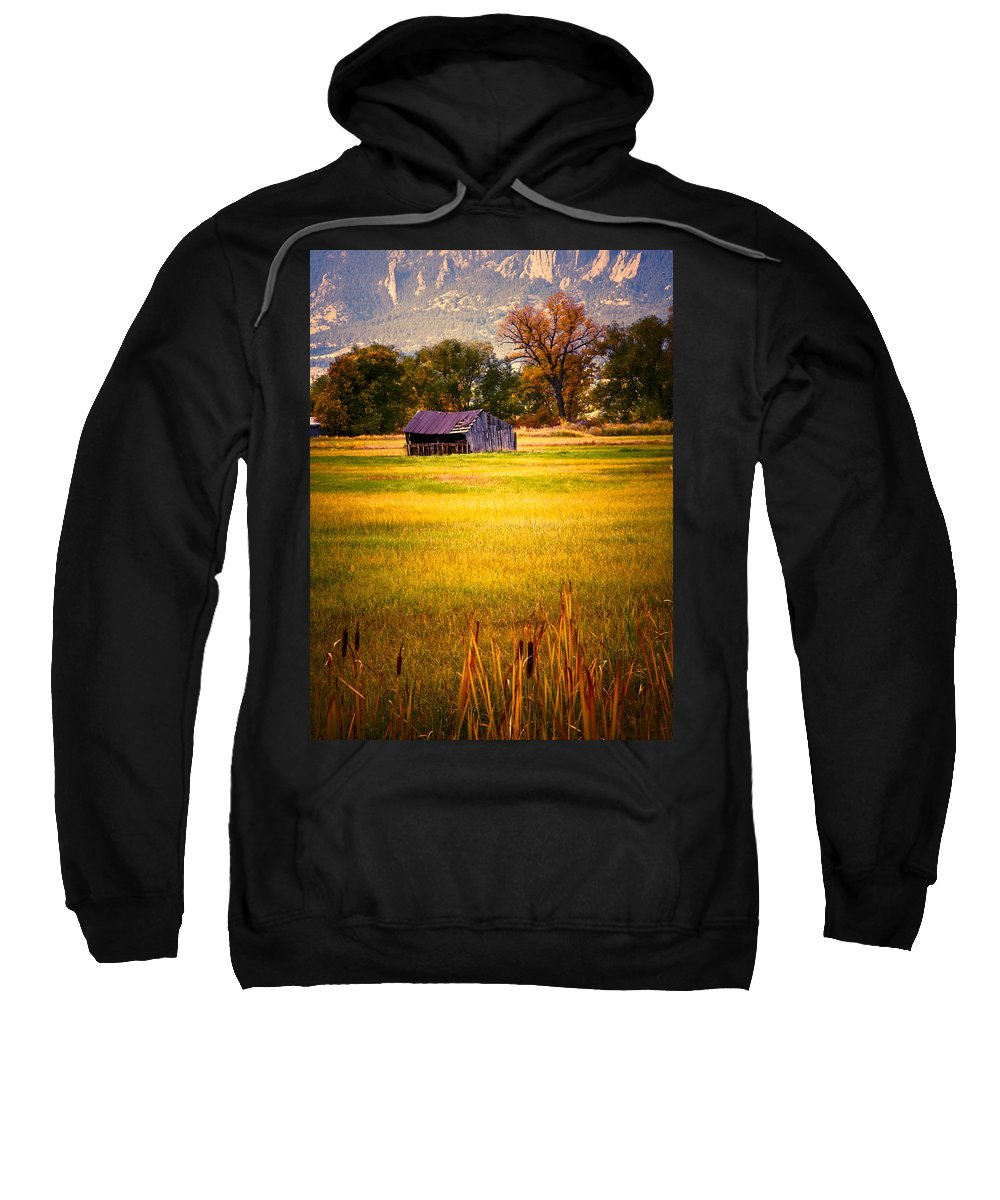 Shed Sweatshirt featuring the photograph Shed In Sunlight by Marilyn Hunt