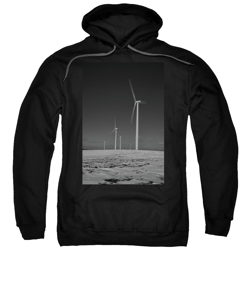 Wind Sweatshirt featuring the photograph Sheldon Wind Farm 14955 by Guy Whiteley