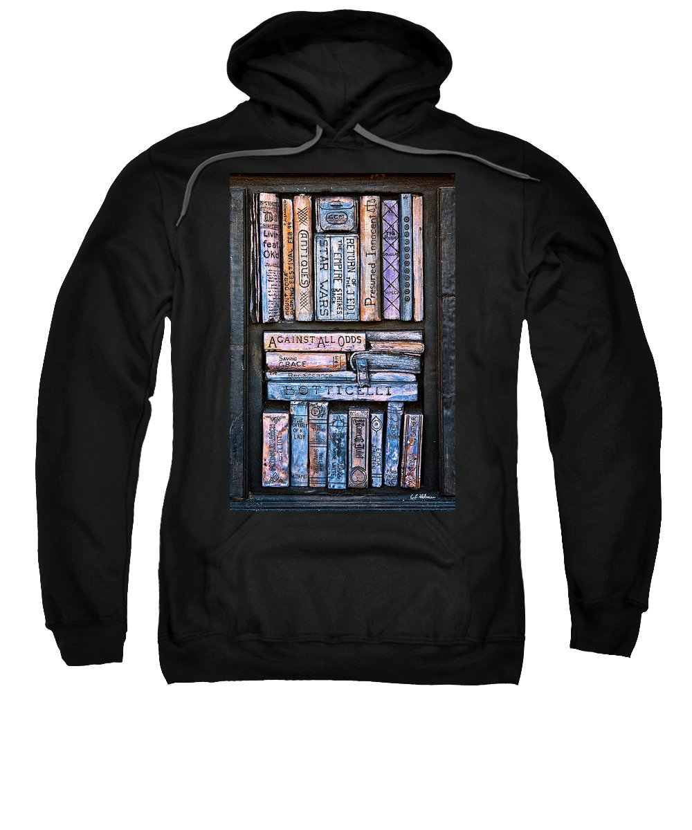 Books Sweatshirt featuring the photograph Shelved - 12 by Christopher Holmes