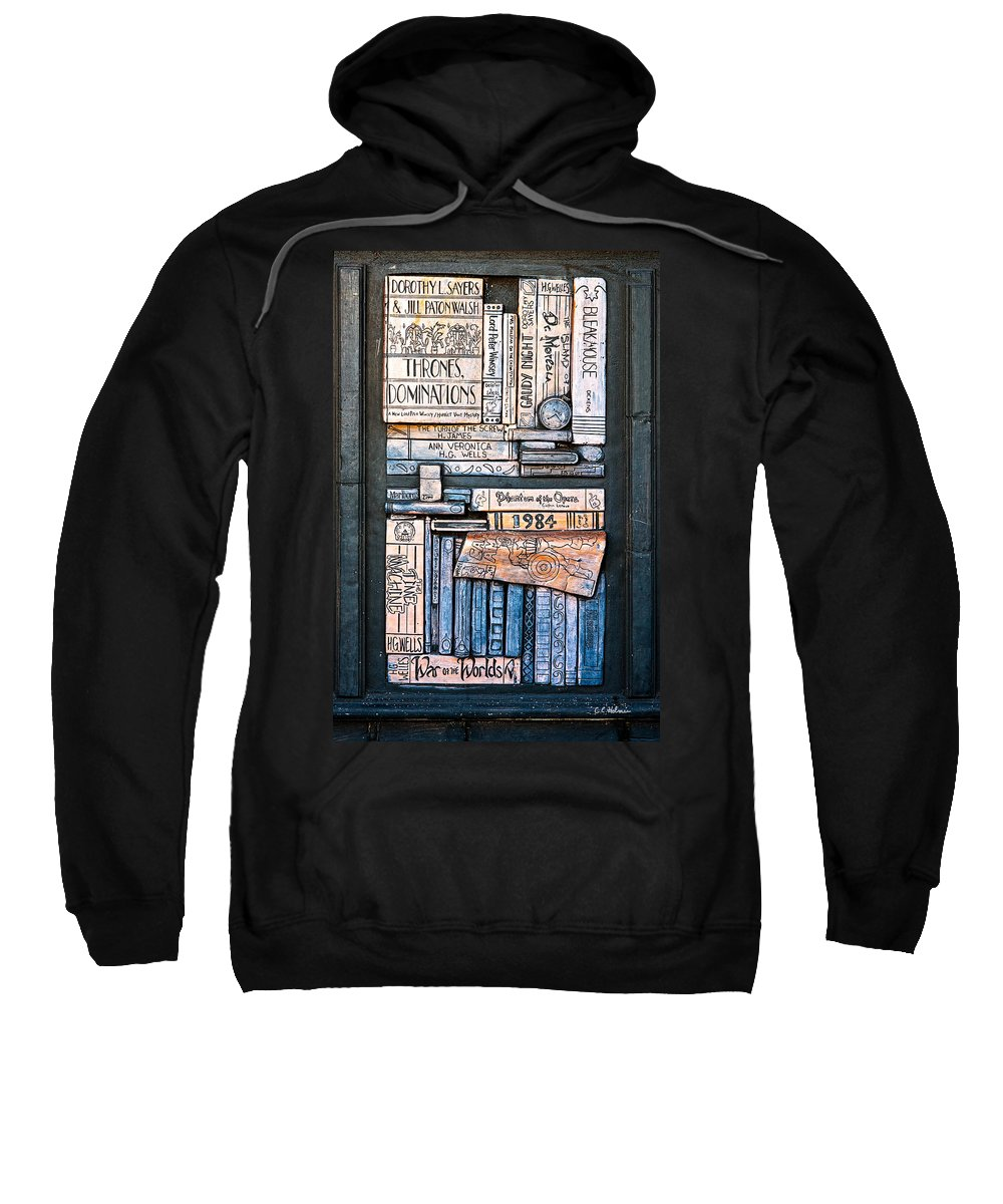 Books Sweatshirt featuring the photograph Shelved - 5 by Christopher Holmes