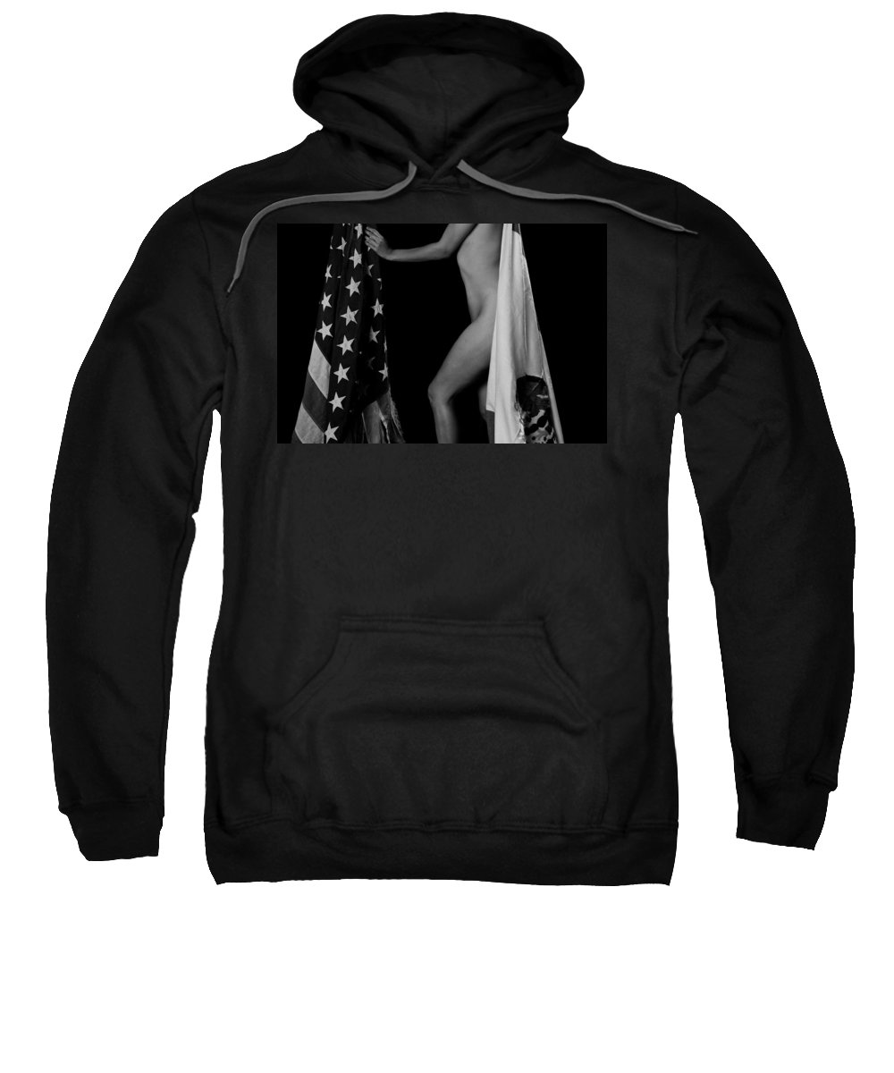 American Flag Sweatshirt featuring the photograph Shifting Cultures by Scott Sawyer