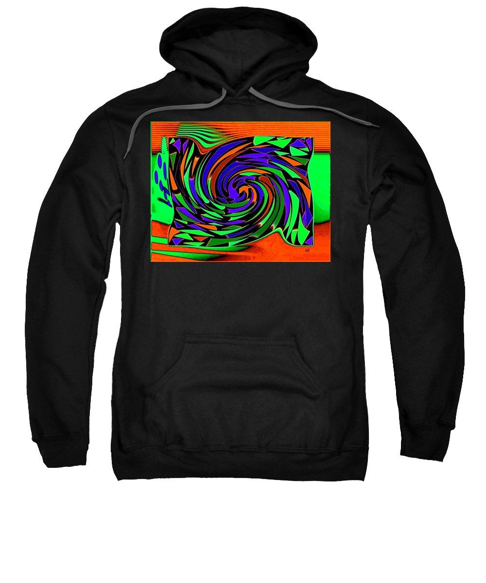 Sahara Sweatshirt featuring the digital art Shifting Sands by Will Borden