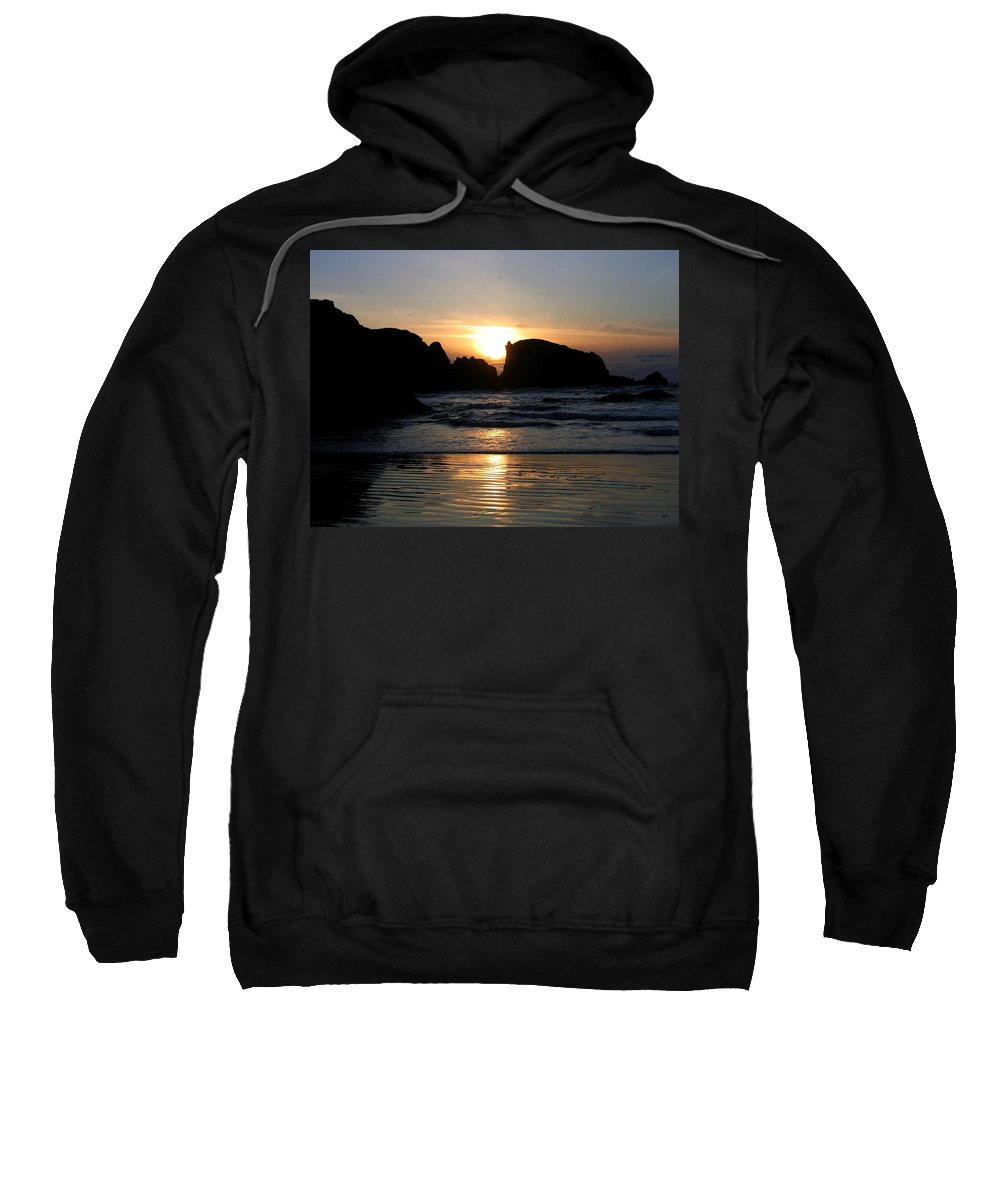 Sunset Sweatshirt featuring the photograph Shimmering Sands Sunset by Will Borden