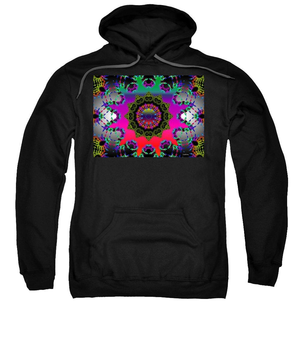 Flower Sweatshirt featuring the mixed media Shine On by Robert Orinski