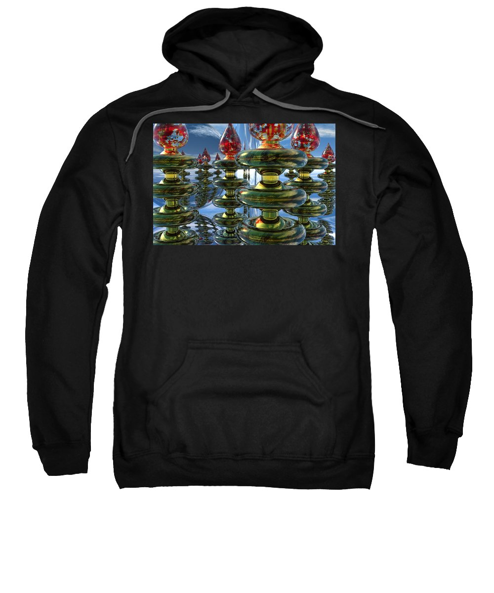 Bryce Sweatshirt featuring the digital art Shiny Things by Lyle Hatch