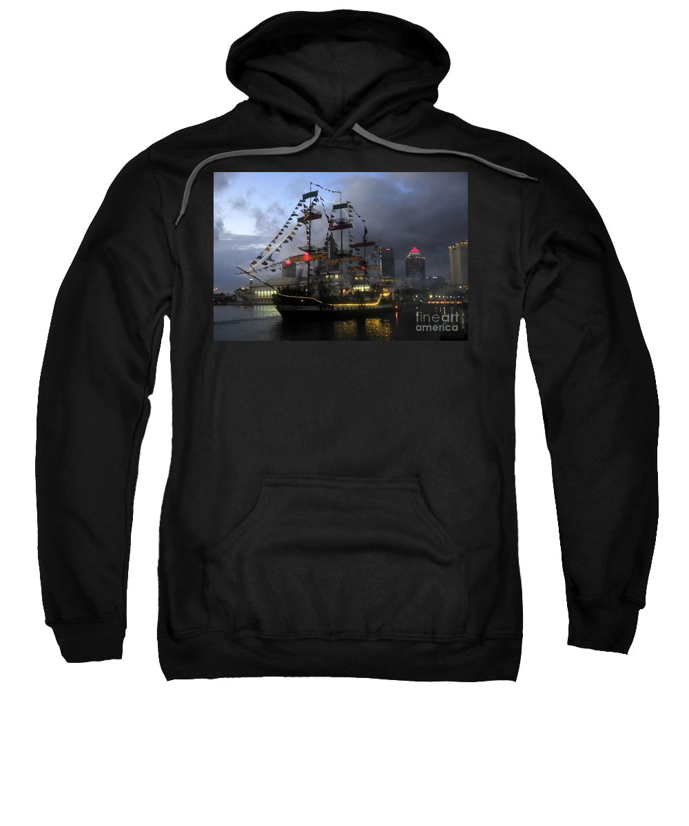 Tampa Bay Florida Sweatshirt featuring the photograph Ship In The Bay by David Lee Thompson