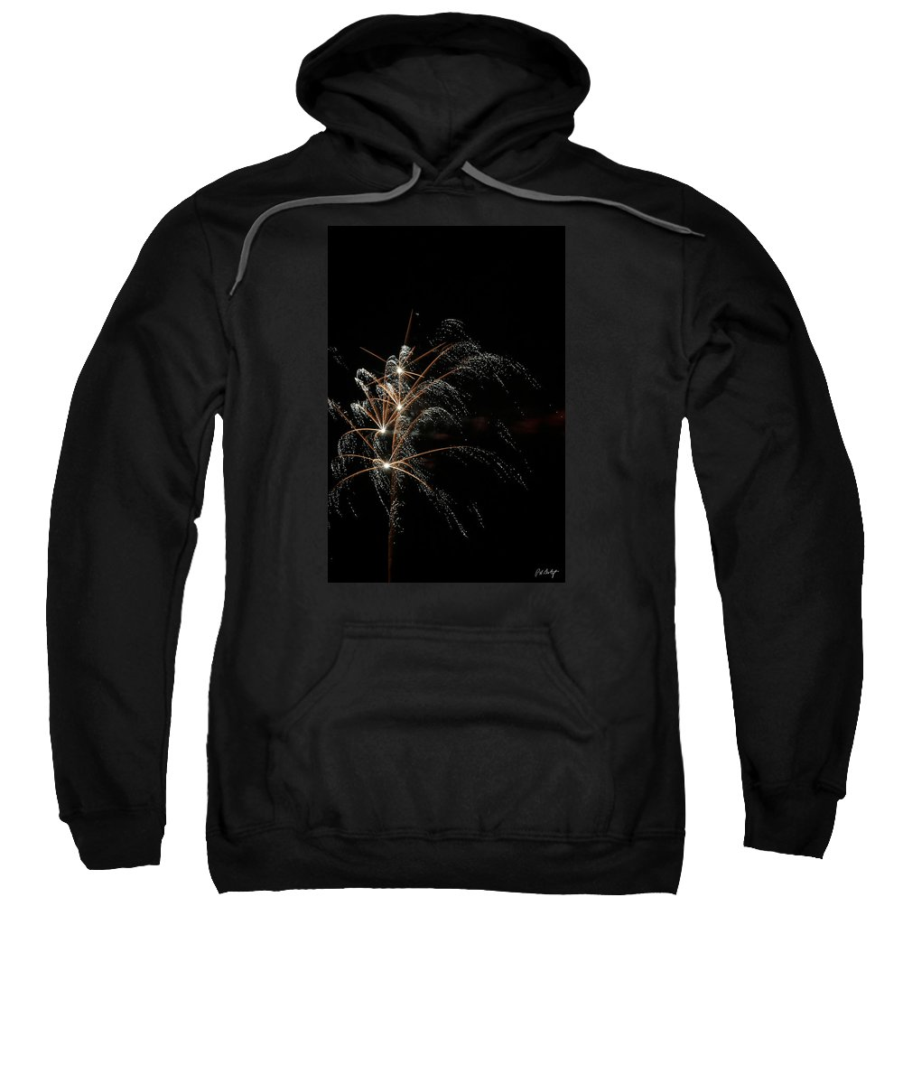 July 4th Sweatshirt featuring the photograph Shooting Stars by Phill Doherty