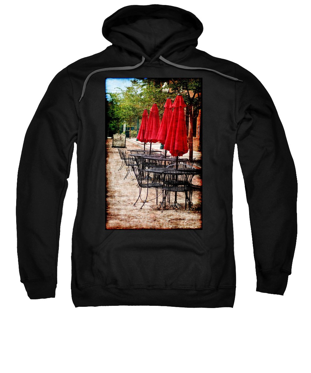 Umbrella's Sweatshirt featuring the photograph Short Central Street by Donna Bentley