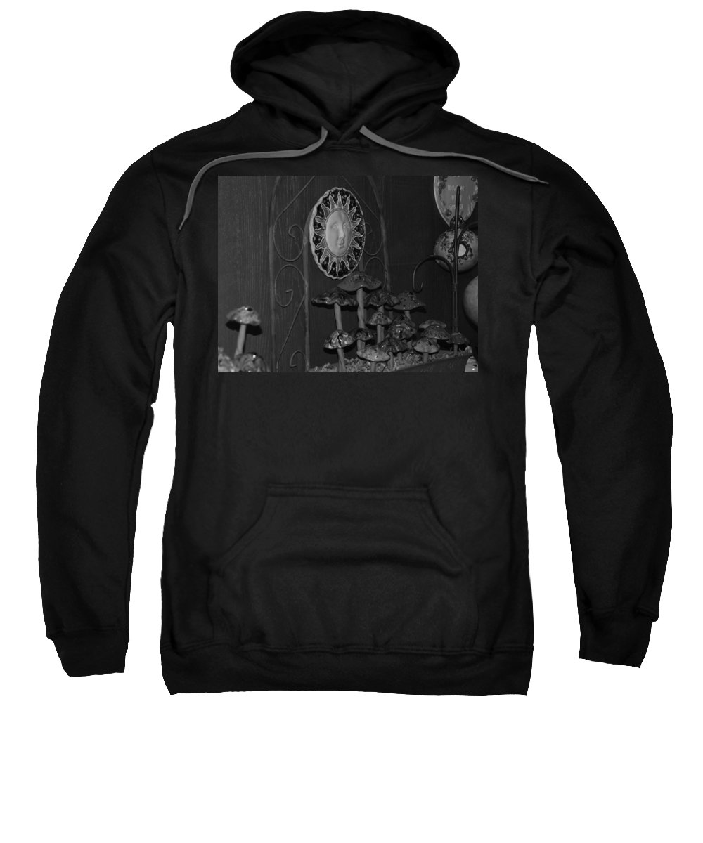 Black And White Sweatshirt featuring the photograph Shrooms And Sun by Rob Hans