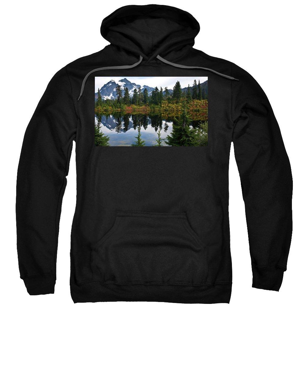 Shuksan Sweatshirt featuring the photograph Shuksan Vista by Mike Reid