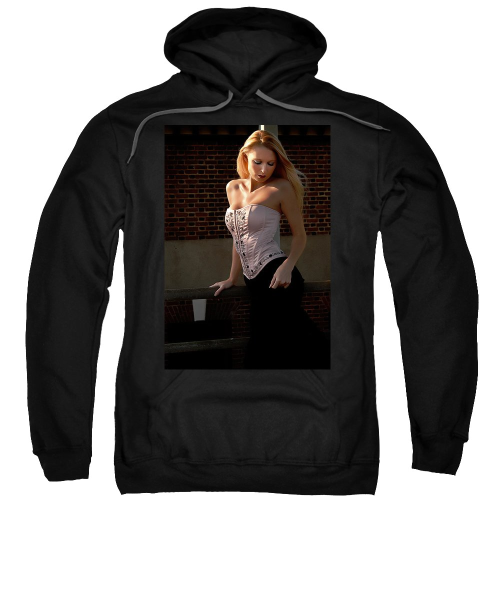 Clay Sweatshirt featuring the photograph Shy by Clayton Bruster